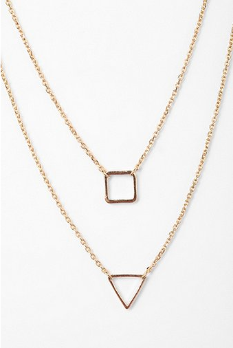 Urban Outfitters Geo High/Low Necklace