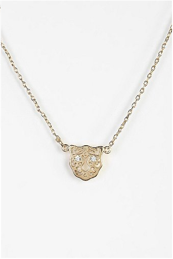 Tiger Eyes Small Charm Necklace