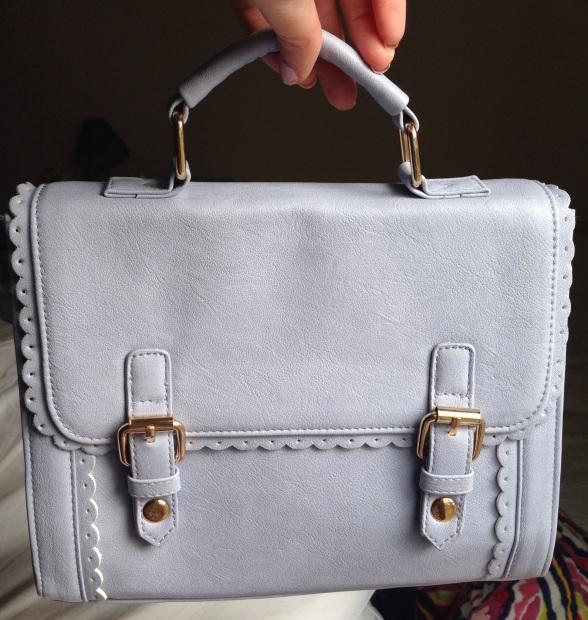 asos lilac satchel