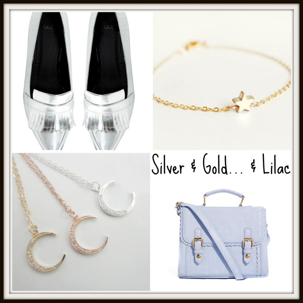 Silver, Gold & Lilac Spring Accessories