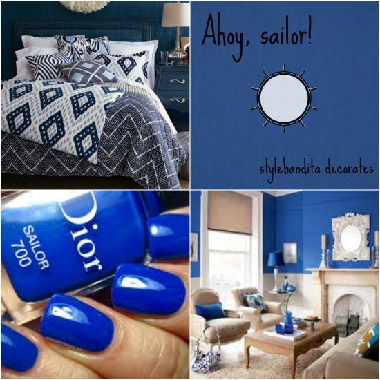 decorating with sailor blue